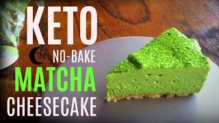 Keto Low Carb Matcha Cheesecake