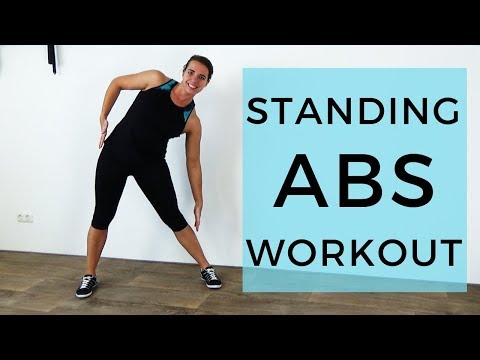 20 Minute Standing Abs Workout to Flatten your Belly – Belly Fat Burning Exercises – No Equipment