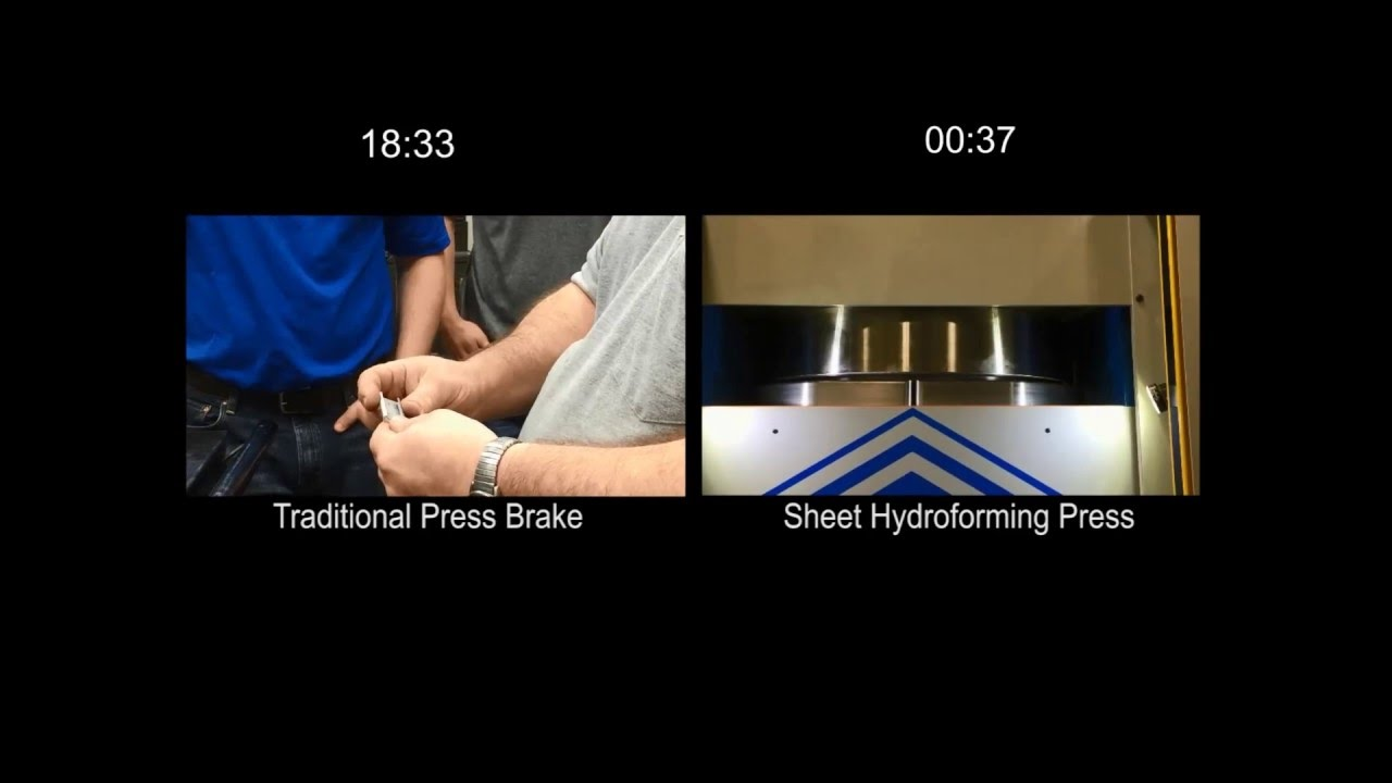 Low-Budget Hydroformer Puts The Squeeze On Sheet Metal Parts   Hackaday