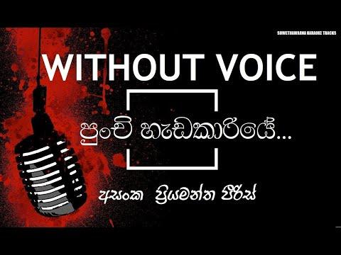 Punchi Hadakariye (WITHOUT VOICE) Asanka Priyamantha Karaoke