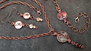 Beautiful Earrings/Necklace/Bracelet Set - Simple Design - Eps 188