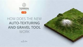 How does the auto-texturing and gravel tool work - 3D Map Generator TERRAIN