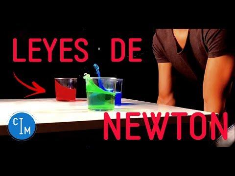LEYES DE NEWTON en EXPERIMENTOS CASEROS SORPRENDENTES