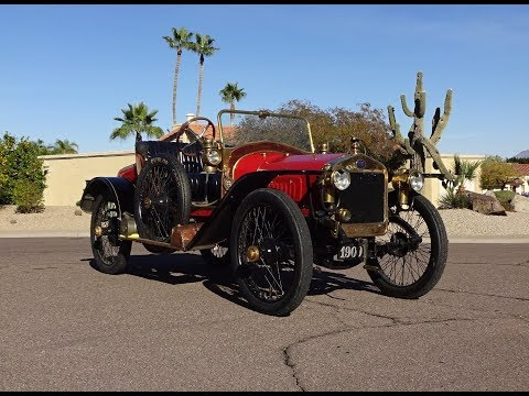 1909 Delage Voiturette in Red & Engine Sound on My Car Story with Lou Costabile