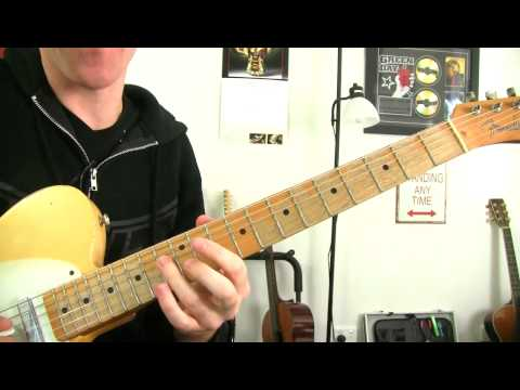 Guitar Soloing Lesson - Outlining Major Chords - 'Just Like Jesse James' Inspired Licks