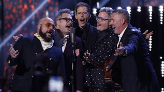 Geddy Lee Inducts Barenaked Ladies With Steven Page into the Canadian Music Hall of Fame