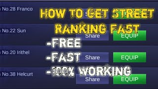 How To Get Street Ranking Fast And Easy|MLBB|ItzSvenix