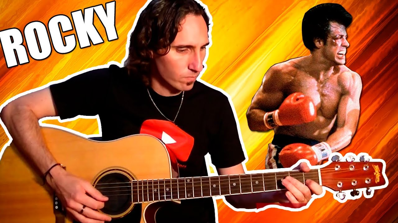 how to play rocky balboa theme song very easy for acoustic guitar tcdg youtube. Black Bedroom Furniture Sets. Home Design Ideas
