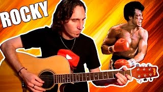 How To Play Rocky Balboa Theme Song | Very Easy For Acoustic Guitar! TCDG