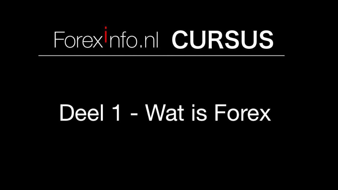 Forex Cursus Deel 1  Wat is Forex