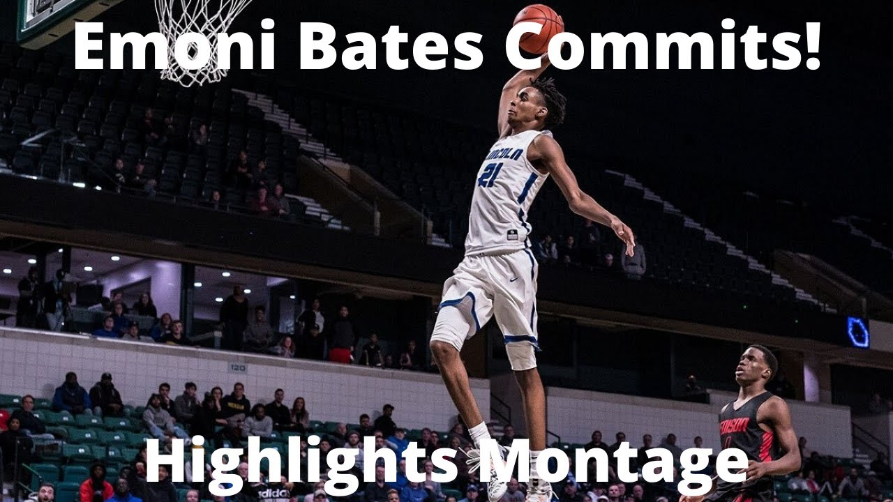 Emoni Bates, 2022 top basketball recruit, commits to Michigan State