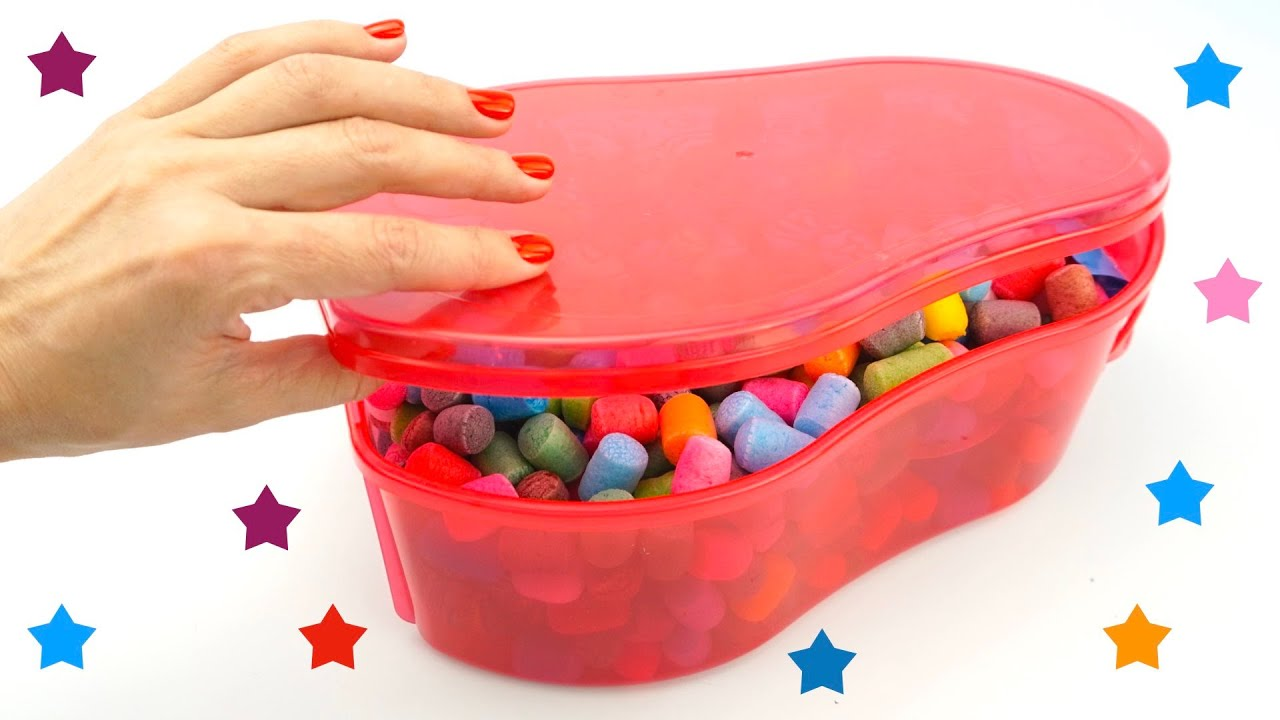 Коробка сюрпризов и игрушек из мультиков для детей