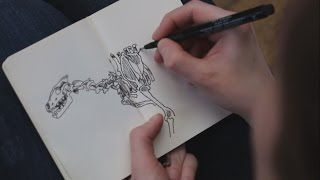 Sketch with me | Museum of Natural History in Paris | Canis Lupus