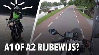 A1 of A2 Motorrijbewijs. Doen of Niet?