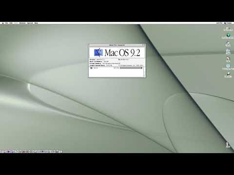 Mac OS 9 first run and walkthrough