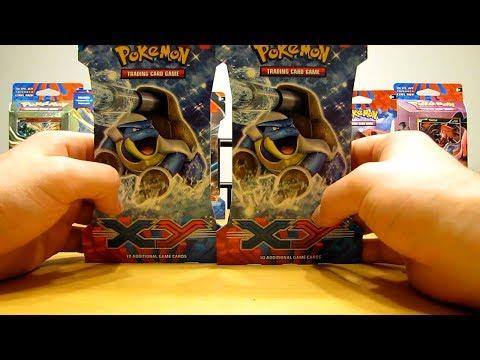 2 Mega Blastoise Pokemon X and Y Booster Pack Opening
