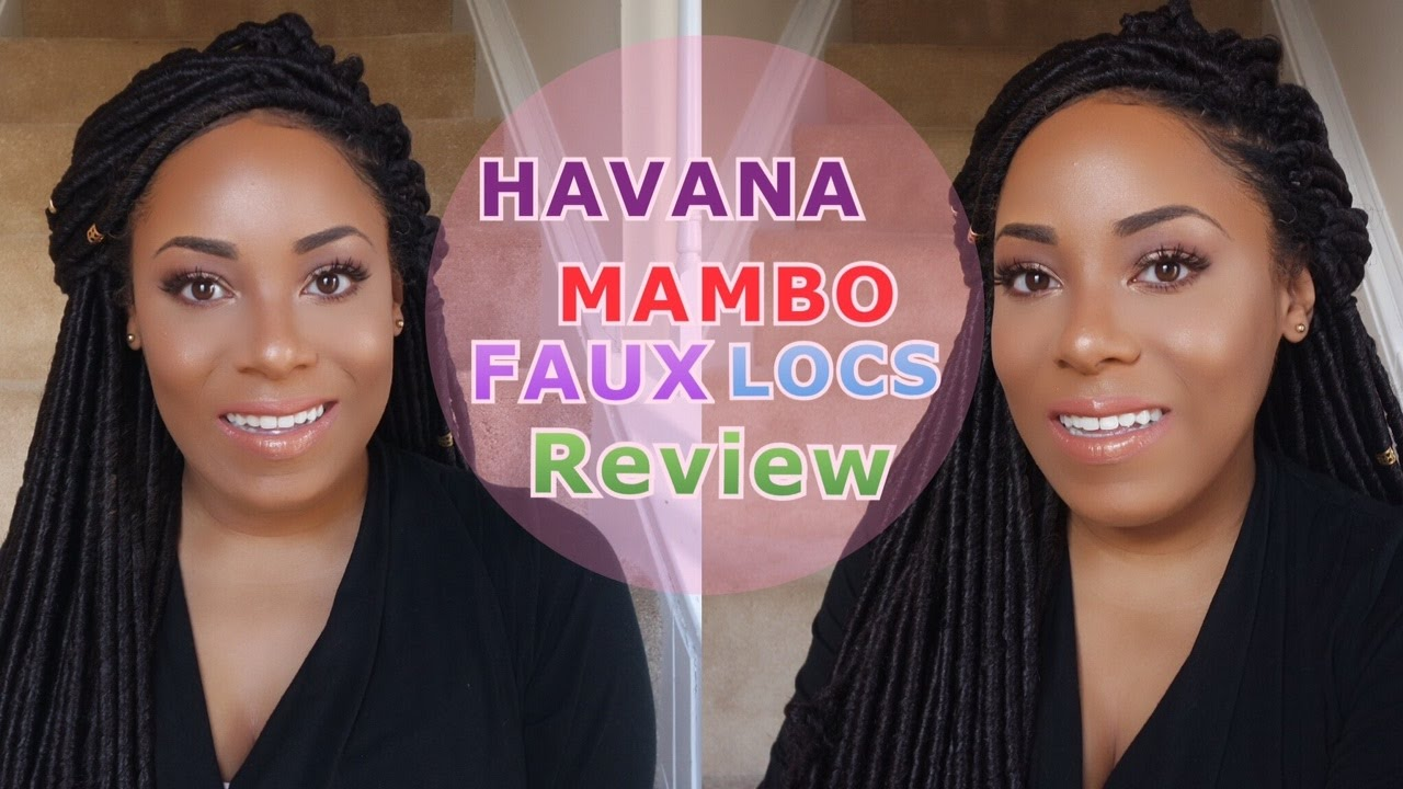 Janet Collection Havana Mambo Faux Locs Crochet Hair Review Lia