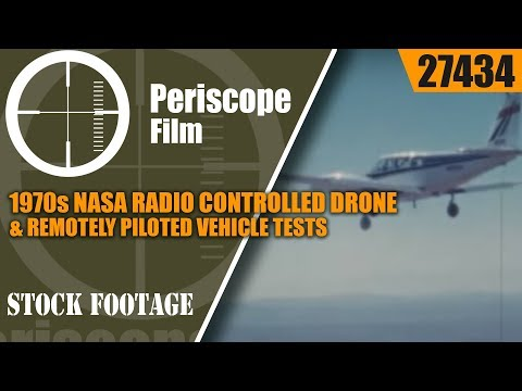 1970s NASA RADIO CONTROLLED DRONE & REMOTELY PILOTED VEHICLE TESTS  27434