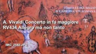 A. Vivaldi Concerto in fa maggiore RV434 Allegro ma non tanto L.Sello, Accademia Vivaldiana