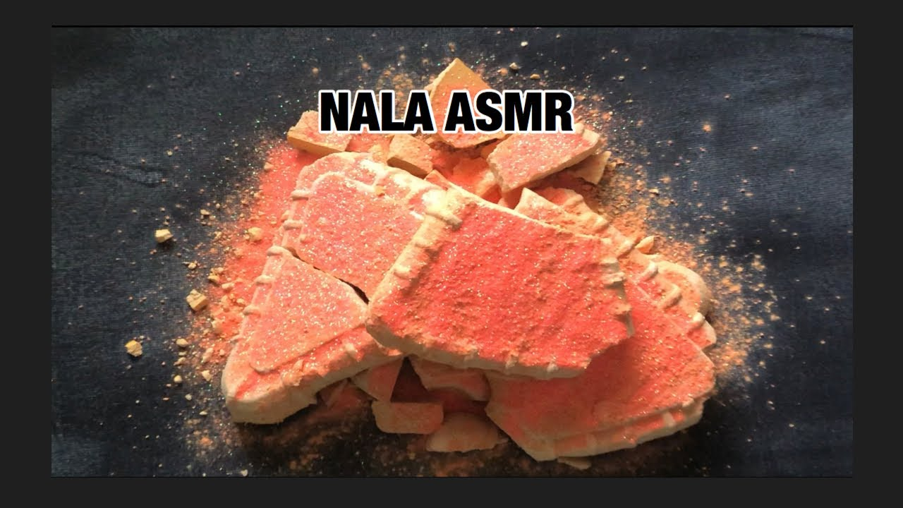 ASMR ~ Orange Glittery Broken Pieces ~ Powdery Crumble