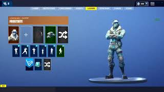 LEAKED *NEW* FROSTBITE skin showcase with emote Fortnite Battle Royale
