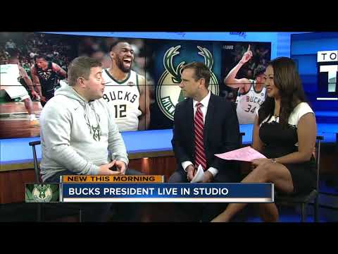 Bucks President Peter Feigin on new coach, arena naming rights