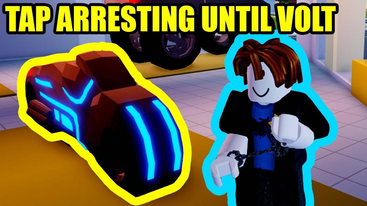 Roblox Jailbreak Volt Bike Tap Arresting Until I Get Volt Bike Roblox Jailbreak Youtube