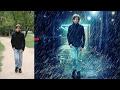 rain effect and change background   photoshop manipulation  tutorial