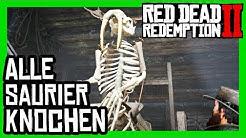 Red Dead Redemption 2 - Alle 30 Saurierknochen / Dinosaurierknochen, Fundorte - 100 % Abschluss