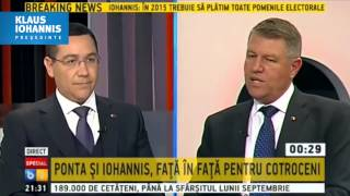 Dezbatere Ponta - Iohannis: replica magistrala a lui Klaus Iohannis