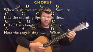 When Irish Eyes Are Smiling (Traditional) Guitar Cover Lesson in G with Chords/Lyrics