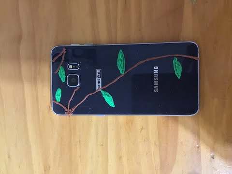 Hobby: 3D Printing Pen. Decorating a cracked phone