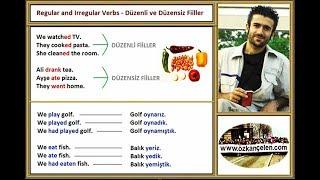 2. Regular and Irregular Verbs - Düzenli ve Düzensiz Fiiller