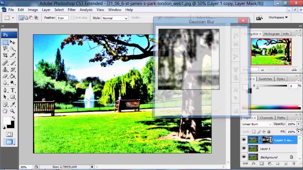 Adobe photoshop cs3 tutorial make hdr effect youtube baditri Gallery