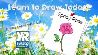 Teaching Kids How to Draw: How to Draw a Spray Rose