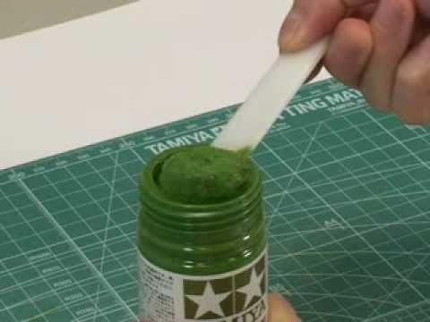 Tamiya 87111 Diorama Texture Paint Grass Effect Green Application