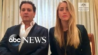 Johnny Depp, Amber Heard Shoot a 'Hostage' Video Apologizing to Australia(Johnny Depp and his wife offer an apology for failing to declare their two dogs when entering Australia., 2016-04-19T01:17:37.000Z)