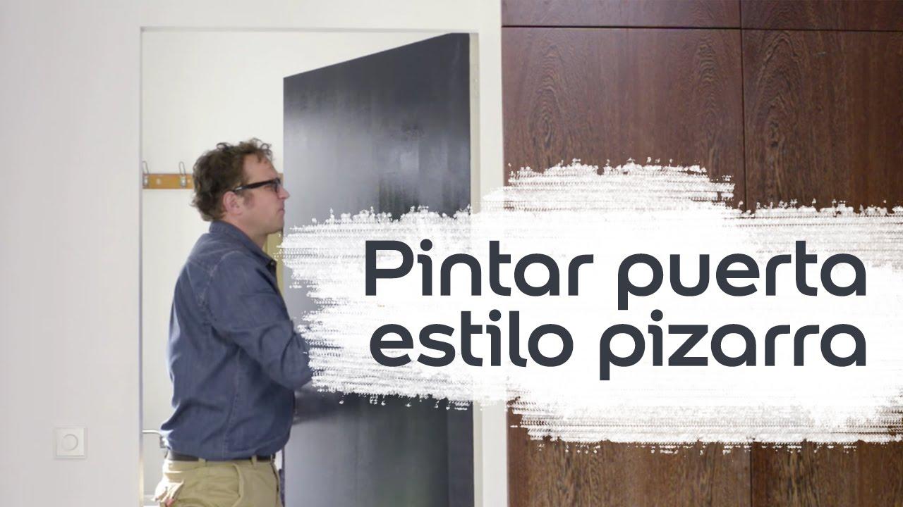 V deo tutorial convertir una puerta en pizarra bruguer for Pintar puertas en blanco paso a paso