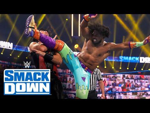 The New Day vs. Shinsuke Nakamura & Cesaro – SmackDown Tag Team Title Match: SmackDown, Oct. 9, 2020