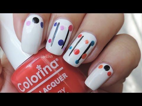 Nail Art - Easy Dotticure for Beginners - Manicura facil para principiantes