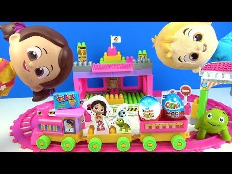 Niloya'nın treni sürpriz yumurta taşıyor. Toybox Ozmo ve Kinder dolu trene Niloya yetişebilecek mi?