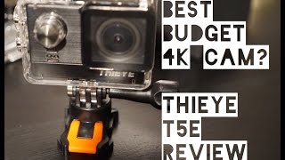 Best BUDGET 4K Action Camera 2017? ThiEye T5E Review