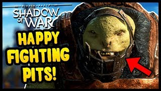 THE BEST OF THE FIGHTING PITS | Middle Earth: Shadow of War - Gameplay Funny Moments