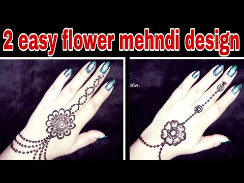 Repeat Flowers Jewellery Mehndi Design For Back Hand Latest