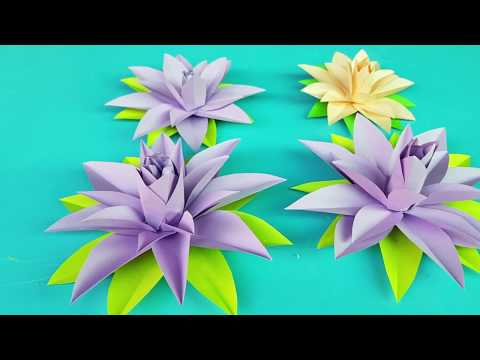 DIY How to Make Most Beautiful Lotus - Water Lily With Paper - Crafts Paper Flowers