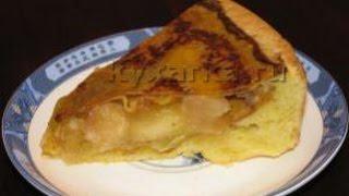 Яблочный пирог с медом и блинчиками