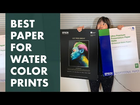 Best Paper For Printing Watercolor Art Prints-3 Paper Comparisons