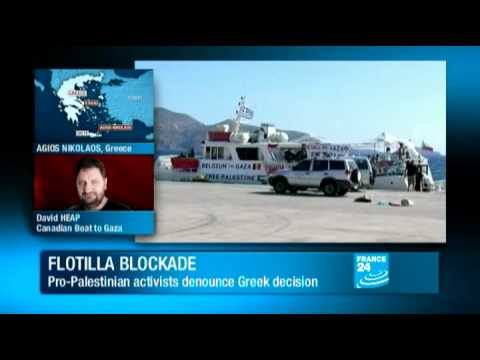 Israeli-Palestinian conflict - French yacht heads to Gaza after giving Greece the slip