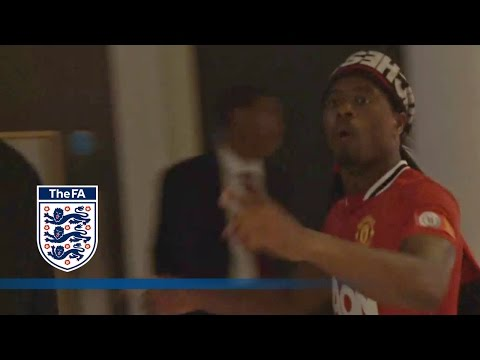 "Patrice Evra Sings funny ""Wembley"" 