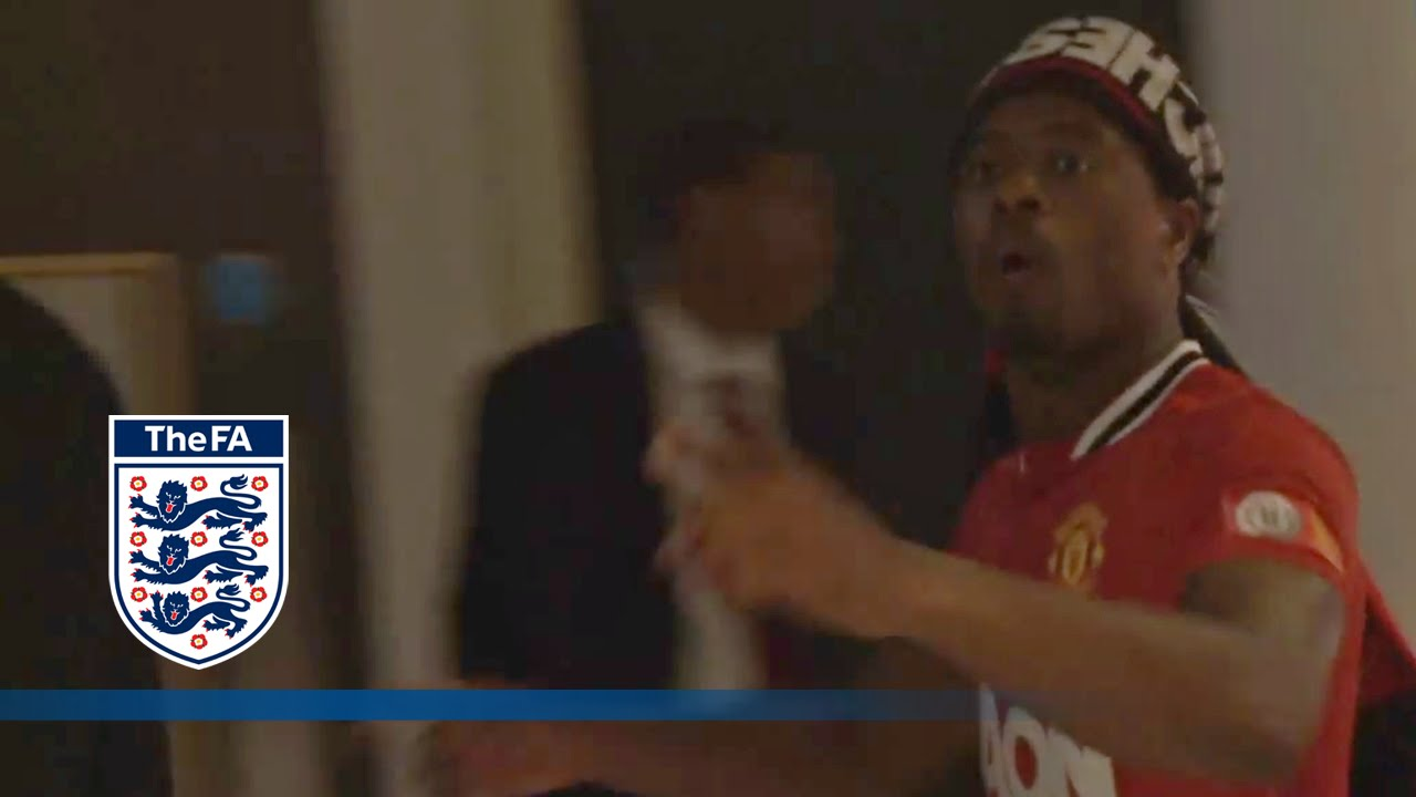 """Man City Funny: Patrice Evra Sings Funny """"Wembley"""""""